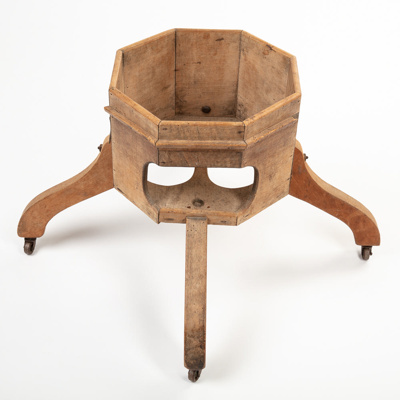 Baby Walker, Wooden; Unknown maker; 1880-1920?; RI.W2001.876
