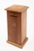 Moneybox, Wooden; Unknown maker; 1890-1920; RI.W.2018.3623