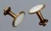 Collar studs, Men's, Copper; Unknown maker; 1830-1930; RI.W2001.113