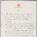 Letter, King George V to A.W. Robb; George V, Windsor, George Frederick Ernest Albert; 00.12.1918; RI.W2014.3579.1