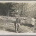 Photograph, Pat Brick with logs; Unknown photographer; 1958; RI.P0000.299
