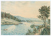 Painting, Watercolour Riverton Landing Jacobs River; Unknown maker; 1850 -1870