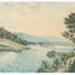 Painting, Watercolour Riverton Landing Jacobs River; Unknown maker; 1850 -1870
