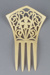Comb, Peineta, Ivorine; Unknown maker; 1880-1940; RI.W2001.13