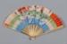 Fan, Folding, Hand painted floral design; Unknown maker; 1880-1920; RI.LA01.02