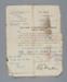 Letter, Demobilisation, 2nd Lieut. A. W. Robb (W.W.I) ; British Army; 22.04.1919; RI.W2014.3579.13