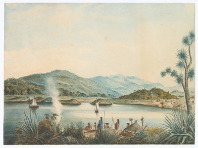 Painting, Watercolour Jacobs River Estuary; Unknown maker; 1830-1850
