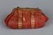 Purse, Red leather; Unknown maker; 1875-1901; RI.W2016.3602.2