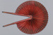 Fan, Cockade, Red cloth; Unknown maker; 1850-1920; RI.LA01.06