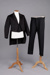 Suit, Men's, Tailcoat, waistcoat and trousers; Unknown maker; 1880-1920; RI.W2011.3073