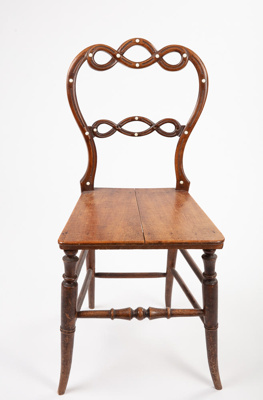 Chair, Wooden; Unknown maker; 1880-1900 ?; RI.W2001.418