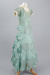 Dress, Girl's, Evening, Pale teal taffeta; Unknown maker; 1900-1910; RI.W2011.3066