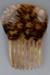 Comb, Peineta, Imitation tortoise shell; Unknown maker; 1880-1940; RI.W2001.14