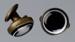 Collar studs, Men's, Glass; Unknown maker; 1890-1910; RI.W2001.131