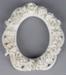 Frame, Photograph, Porcelain flowers; Unknown maker; 1860-1920; RI.LA01.11