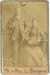 Photograph, Carte de visite, Studio photograph of Mr & Mrs G. Burgess with dog; Nicholas and Dougall; 1880-1884; RI.P3.92.45