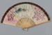 Fan, Folding, Hand painted Japanese scene; Unknown maker; 1880-1920; RI.CL94.136