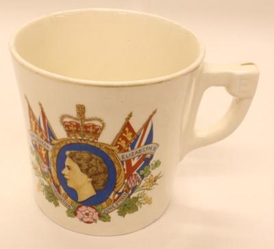 Mug - Coronation H.M Queen Elizabeth II June II 1953; J. and G. Meakin; 2012 164