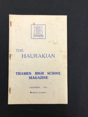Book, The Haurakian Thames High School Magazine; Thames Star Print; 2021.058.03