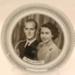 Glass Butter Dish - H.M. Queen Elizabeth II & The Duke of Edinburgh Royal Souvenir; 2012 228