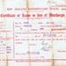 Certificate of Leave, NZEF; 1918; 2021.045.06a & b