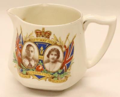 Jug - Coronation of H.M. King George VI & H.M.Queen Elizabeth 12th May 1937; James Kent Ltd; 2012 149