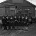 New Plymouth Borough Tramways, Group, Swainson's Studios, 15/04/1945, SW1945.1579