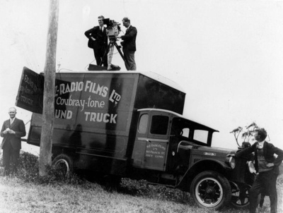 Photograph of NZ Radio Films Ltd sound truck, 1929, S5026