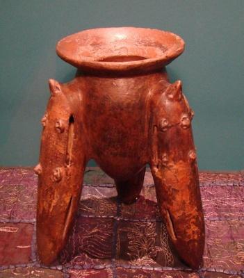 Mayan Chocolate Pot, 500BC-500AD, PC001