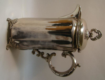 Silver plated chocolate pot made by Adelphi Silver...