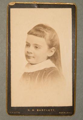 Cabinet photograph [Thora Daisy Kerr Taylor]; R H Bartlett; Pre-1885; XAH.B.10