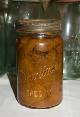 Preserving jar and contents; Early 1970s; XAH.W.13.2