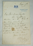 Letter [From the Governor General to Mrs A K Taylor]; XAH.A.67
