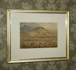 Painting [Mount Albert and the Alberton Homestead]; Holland and Butler; 19th Century; XAH.225