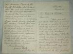Letter [S L Taylor to Sir Frederick Whitaker]; Sophia Kerr Taylor (1847-1930); Post 1890; XAH.A.61