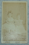 Carte de viste, untitled [Thora Daisy and Violet Kerr Taylor]; G Redfern (estab. 19th century); Pre 1885; XAH.GH.3.105