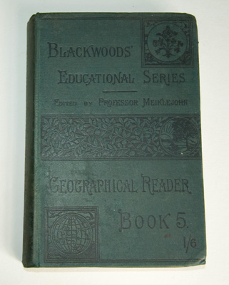 Book, 'Fifth Geographical Reader'; 1885; XAH.C.886