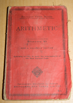 Book, 'Arithmetic Standard VI'; Whitcombe & Tombs (1882-1971); XAH.C.488
