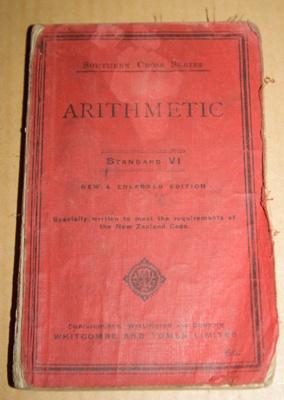 Book, 'Arithmetic Standard VI'; Whitcombe & Tombs (1882-1971); XAH.C.488