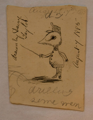 Drawing [Drilling some men]; Thora Daisy Kerr Taylor (1875-1885); 7 August 1885; XAH.GH.5.3