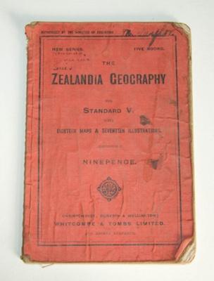 Book, 'The Zealandia Geography'; James Horsburgh; XAH.C.900