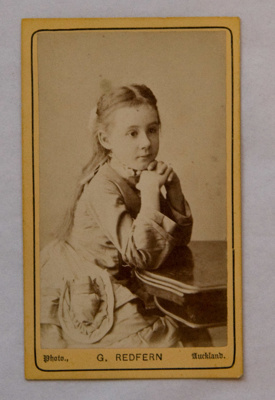 Carte de visite, Untitled [Mildred Kerr Taylor]; G Redfern (estab. 19th century); 19th century; XAH.GH.1.26