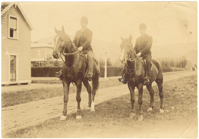 Photograph, Untitled [Two men riding horses]; XHC.259