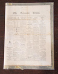 Newspaper; Taranaki Herald (estab. 1852, closed 1989); 18 Mar 1863; XHC.221