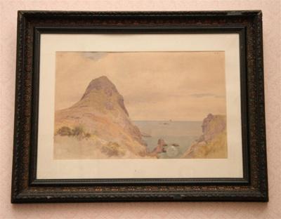 Watercolour, 'Paritutu Beach'; James Crowe Richmond (1822-1898); 1866; XHC.45