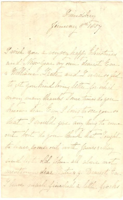 Letter [From Alice Atkinson to William and Emily Richmond]; Alice Lucy Atkinson (1876-1928); 08 Jan 1857; XHC.186