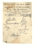 Receipt; S Pyne & Sons; 12 Sep 1896; XHC.182
