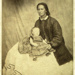 Photograph [Jane Clendon holding a baby]; 1856-1872; XCH.203