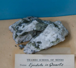 Epidote in quartz; XTS.2046