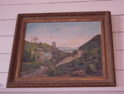 Painting, Untitled [May Queen Mine, Thames]; W F Huddlestone; 1896; XTS.2978